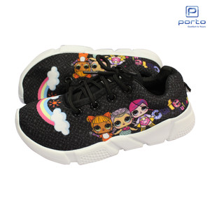 Harga sepatu sneakers tali gambar lol anak perempuan size 31 35 ad303b   hitam | HARGALOKA.COM
