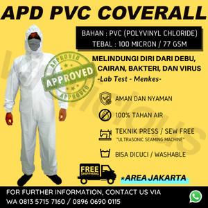 Harga baju apd hazmat coverall pvc press 77 gsm tanpa jahit bukan   HARGALOKA.COM