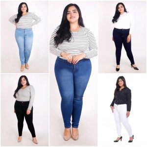 Harga celana jeans highwaist skinny stretch bigsize jumbo wanita size 31 38   hitam   HARGALOKA.COM