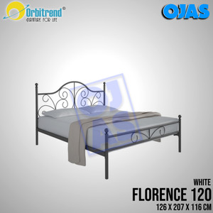 Harga ranjang besi medium bed orbitrend florence 120     HARGALOKA.COM