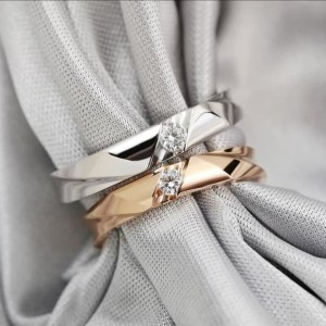 Harga cincin kawin nikah tunangan couple emas 50 dan palladium 15 m | HARGALOKA.COM