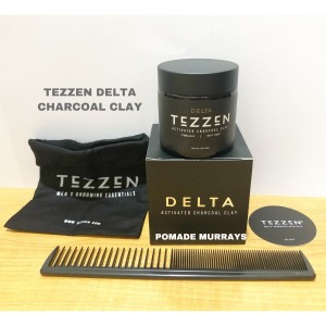 Katalog Pomade Tezzen Delta Activated Charcoal Clay Matte Free Sisir Carbon Katalog.or.id