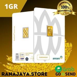 Harga emas antam 1 gram batangan certicard press thn 2020 | HARGALOKA.COM