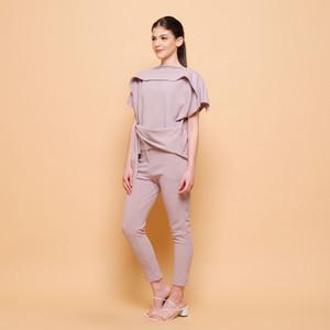Harga cammomile blouse atasan wanita sabrina ikat samping 1904093   brown | HARGALOKA.COM