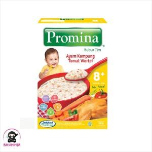 Harga promina bubur tim 8 to 24 bulan ayam kampung tomat wortel 100 | HARGALOKA.COM