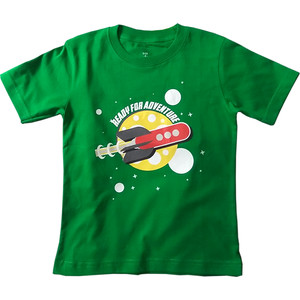 Harga baju kaos anak gambar roket warna | HARGALOKA.COM