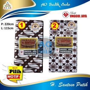 Harga kain batik h santoso aaa unggul jaya primisima motif dasar putih   motif | HARGALOKA.COM