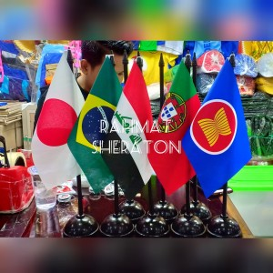 Harga bendera negara dunia dan tiang meja   HARGALOKA.COM