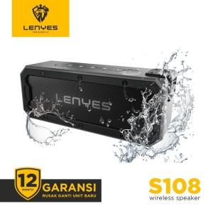 Harga lenyes s108 40w waterproof outdoor wireless hifi speaker heavybass   | HARGALOKA.COM