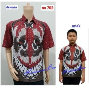 Harga 702 couple kemeja batik dewasa m   bigsize 5l anak 2   12 thn   merah anak 2   4   HARGALOKA.COM