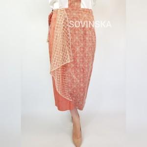 Harga rok lilit batik 2 orange   muat sampe | HARGALOKA.COM