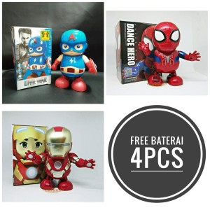 Katalog Mainan Robot Dance Ironman Spiderman Bumblebee Super Hero Katalog.or.id
