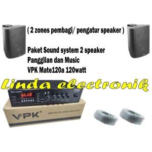 Harga paket sound system vpk mate120a dan vpk v776p 6 inch 2pcs | HARGALOKA.COM