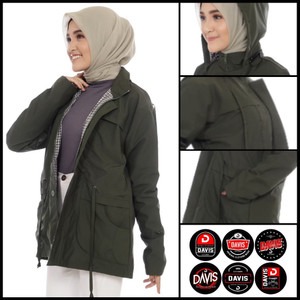 Harga jaket parka wanita anti air original davis jaket wanita parka wanita   | HARGALOKA.COM