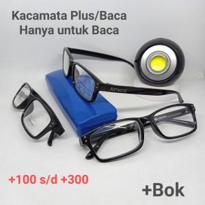 Harga kacamata plus baca jadi frame semi kotak hanya untuk baca   | HARGALOKA.COM