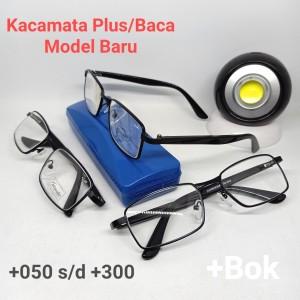 Harga kacamata plus baca jadi frame logam atm 5003 hanya untuk baca   | HARGALOKA.COM