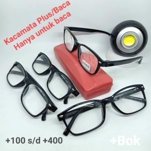 Harga kacamata plus baca jadi frame hitam hanya untuk baca   | HARGALOKA.COM