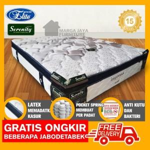 Harga elite pocket latex impressa 160 x 200 kasur spring | HARGALOKA.COM