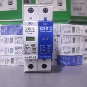 Katalog Surge Arrester Obo V20 C 1phase 280v Ac N Pe C25 B C Katalog.or.id