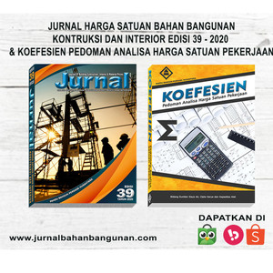 Harga buku koefesien pedoman ahsp dan jurnal bahan bangunan edisi 39   | HARGALOKA.COM