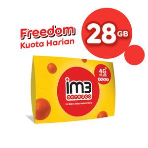 Harga im3 ooredoo starter pack prabayar   freedom harian 28 gb 28 hari | HARGALOKA.COM