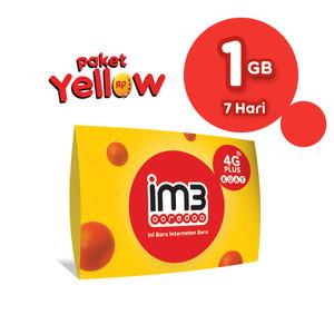 Harga im3 ooredoo starter pack prabayar   yellow 1gb 7 | HARGALOKA.COM