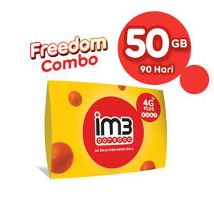 Harga im3 ooredoo starter pack prabayar   freedom 50 gb 90 | HARGALOKA.COM