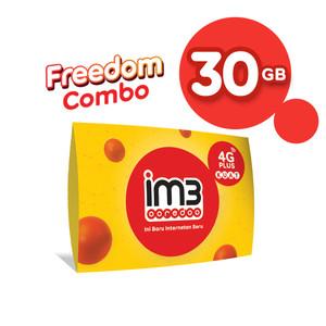 Harga im3 ooredoo starter pack prabayar   freedom 30 gb 30 | HARGALOKA.COM
