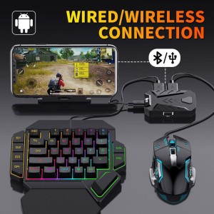 Harga keyboard gaming for pubg dll one set handed mouse for ios   HARGALOKA.COM