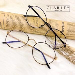 Harga kacamata minus pria wanita anti radiasi photochromic bluray 0101   black gold normal | HARGALOKA.COM