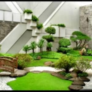 Harga jasa pembuatan taman minimalis taman rumput   HARGALOKA.COM
