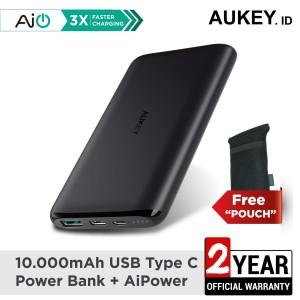 Harga promo aukey powerbank 10000 mah usb c aiq   | HARGALOKA.COM