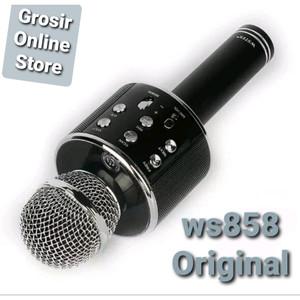 Harga microphone wireless bluetooth ws 858 wster original mic karaoke ori     HARGALOKA.COM