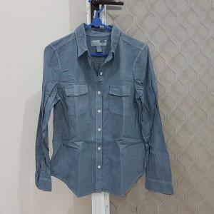 Harga branded original oldnavy shirt kemeja top atasan light grey   HARGALOKA.COM