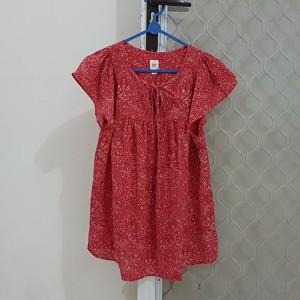 Harga branded original gap blouse top atasan baju tie red etnic sisa   HARGALOKA.COM