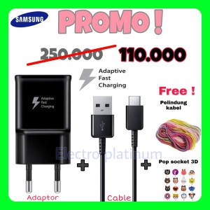 Harga charger samsung type c original 100 fast charging for s8 s10 note | HARGALOKA.COM