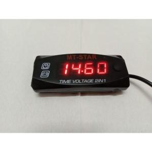 Harga voltmeter digital jam led motor slim mini volt meter waterproof 2 in   HARGALOKA.COM