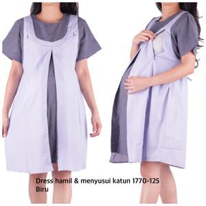 Harga baju hamil dress hamil menyusui cantik oh 1770 bajuhamil   | HARGALOKA.COM