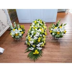 Harga bunga tutup peti kubur mati duka cita coffin condolences flower | HARGALOKA.COM