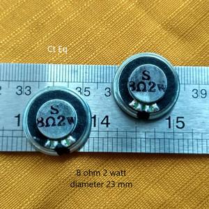 Harga mini speaker 8 ohm 2 watt 2 w 8r speaker diameter 23mm tebal   HARGALOKA.COM