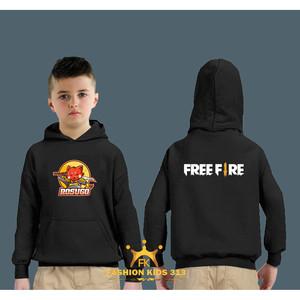 Harga jaket hoodie anak rosugo freefire hitam | HARGALOKA.COM