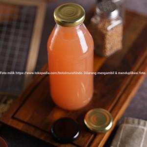 Harga botol kaca juice kopi susu 350ml baru bening premium import 100   | HARGALOKA.COM