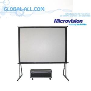 Harga microvision screen   layar projector fast fold 200 inch 3 x | HARGALOKA.COM