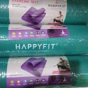 Harga matras yoga pilates yoga mat 10mm nbr merk happyfit   | HARGALOKA.COM
