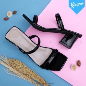 Harga kiraro   block heels wanita hak tahu 5cm chunky ovie vn05   hitam   HARGALOKA.COM