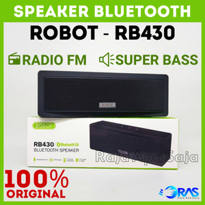 Harga speaker robot rb430 bluetooth portable speker spiker music box bass   | HARGALOKA.COM