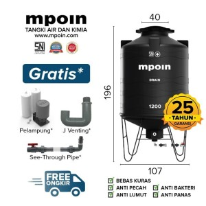 Harga Tangki Kuras Mpoin Plus 1200 Liter Drain Toren Air Tandon Air Katalog.or.id
