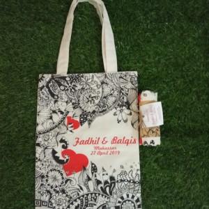 Harga tote bag goodie bag tas blacu kanvas custome murah grosir   | HARGALOKA.COM