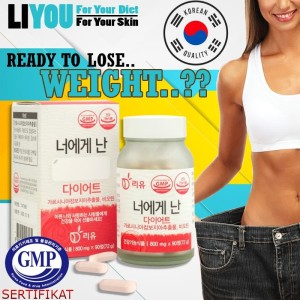 Harga pil diet liyou me to you for your skin and diet 800 mg x 90 | HARGALOKA.COM