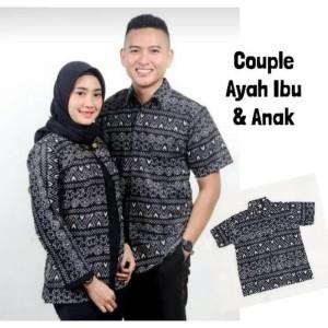 Harga rf nivana   couple atasan ayah anak ibu batik monokrom | HARGALOKA.COM